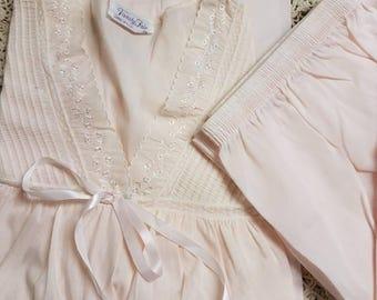 Vintage Pale Pink Vanity Fair Pajamas XL