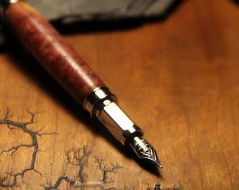 Wood Turned Fountain Pen - Classic Wood
