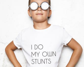 boys gift, boys clothing, unisex design, minimalist kids, minimal child gift, minimalist tee, own stunts tshirt, boys gift idea, boys tee