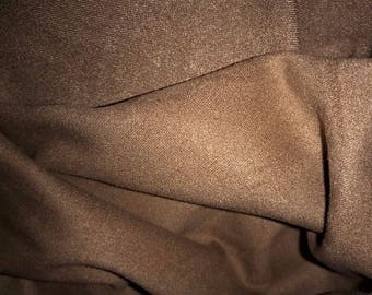 heavy thick fabric and stretchy Brown taupe suede for sale by the yard