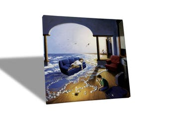 Canvas Canvas Prints-Rob Gonsalves-Making waves-yellow BUS
