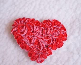 Valentine's Heart Hair Bow, Headband, Red Bow, Toddler Hair Bow, Baby Hair Bow, Hair Accessory, Alligator Clip, Hair Bow, 3 Inch Hair Bow