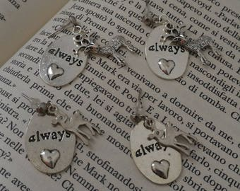 Always Earrings; Always + Stag; Always + Doe; Snape Lily; Harry Potter Earrings; Gift For Her; Gift For Him