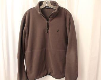 Vintage 90s Nautica Fleece Pullover - XL