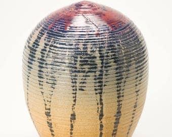 Handthrown Stoneware Closed Vase