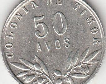 Portuguese colonie, Timor, 50 avos de1948, silver coin