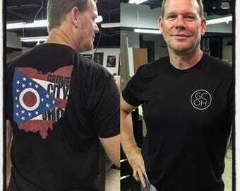 Grove City, Oho design printed on Next Level brand shirt. Portion of the sales are donated.