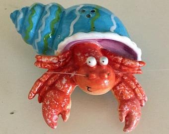 Set of 3 hermit crab figurines