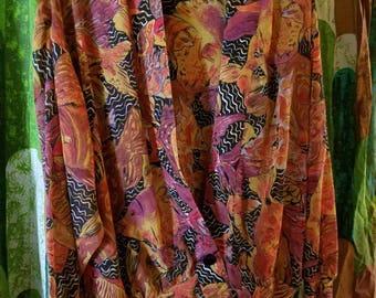 Koi kimono-style jacket