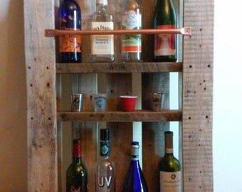 Handmade bespoke reclaimed wood drinks cabinet