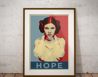 Star Wars - Pop art - Princess Leia - Darth Vader - Yoda - Wisdom - Hope - Faith - Art - Wall decor - Poster - Star Wars Poster