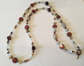 Handmade gemstone long necklace