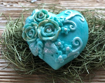 Moroccan Mint Heart Guest Soap