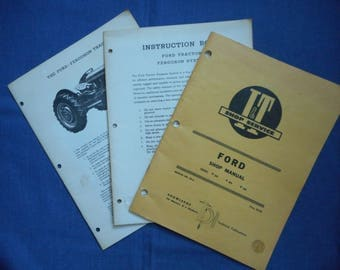 Ford Tractor Manuals Set * 1953