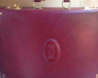 Cartier Vintage Suitcase 24hr Document case