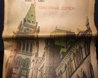 The Brantford Expositor Newspaper 1967 Centennial Edition from Brantford Ontario
