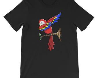Cute Dabbing Parrot Bird T-Shirt Funny Pet Gift