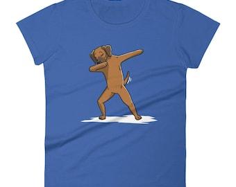 Funny Dabbing Rhodesian Ridgeback Women's T-Shirt, Cute Dab Dance Dog Gift