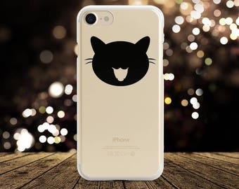 Cat iPhone 8 Case Clear iPhone X Case Cat iPhone 7 Plus Case Animal Phone Case Cat Samsung S7 Case iPhone 7 Case iPhone 6s Case Samsung S8+