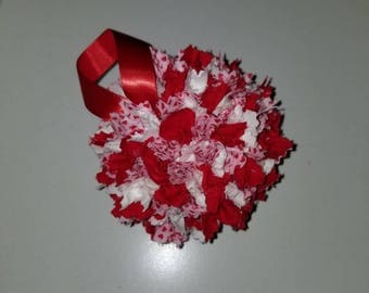 Valentine fabric ornament