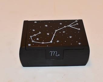 Scorpio zodiac constellation box