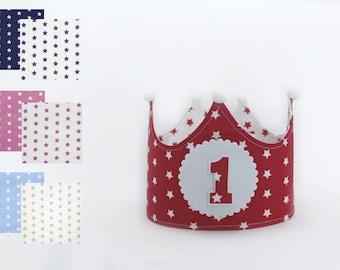 Birthday crown dots, first birthday
