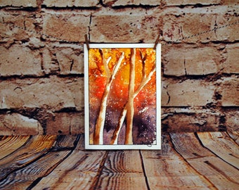Sunset Forest Watercolor Notecard