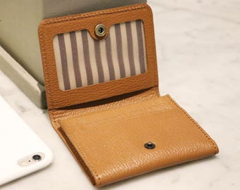Leather Business Card Case, Credit Card Case - Handmade