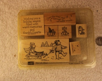 Over the River Stampin' Up 2001 (Set of 7)