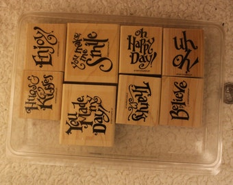 Everyday Expressions Stampin'Up 1997 (Set of 8)