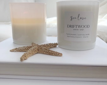 DRIFTWOOD • soy candle, white tea, hand poured soy candle, vegan soy candle, natural candle, Sea Love Candle