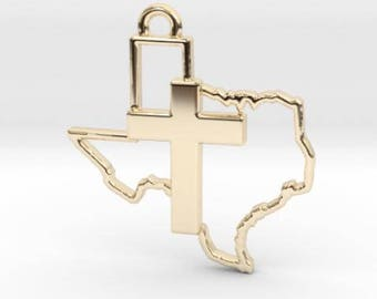 Texas Cross Pendant Christian Statement