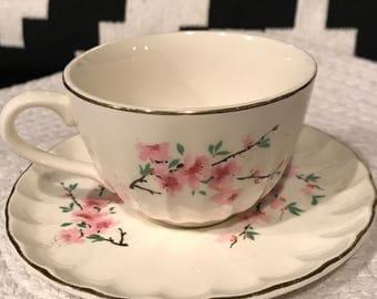 W.S George Bolero Peach Blossom tea cup