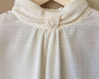 Vintage High Bias Neck Blouse