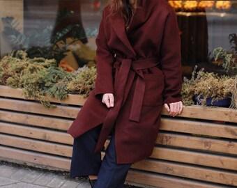 Essential garnet winter coat
