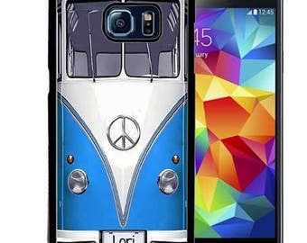 Personalized Rubber Case For Samsung S5, S6, S6 edge, S6 Edge Plus, S7, S7 Edge,  8, 8 plus - Hippie Van