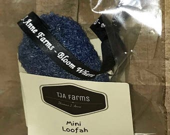 Mini Blue Loofah