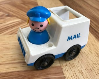 Vintage fisher price mail truck and girl