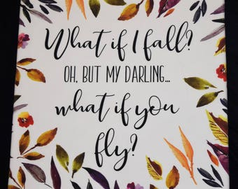 What If I Fly Wall Hanging