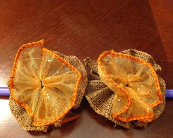 Rustic Autumn dog bows (10 count)