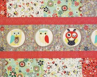 Owl minky blanket