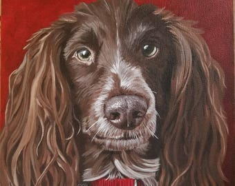 Custom Pet Portrait Acrylic Painting