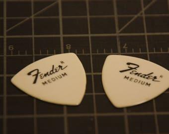 2 Fender Picks - Guitar Gift - 1960's or 70's Era - Brand New from Original Store Package - Stocking Stuffer for Men!