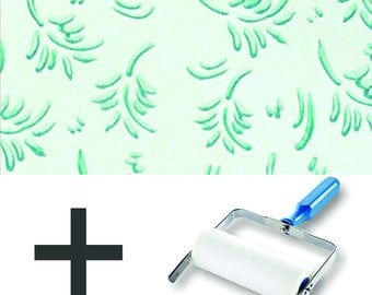 Pattern Paint Roller Kit DIY Wallpaper - Leaf Patterns