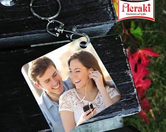 Couple's photo key chain, Valentine's day Key chains, Photo Key chains, Sublimation Key chains Active