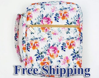 Monogrammed Sitca Floral Bible Cover/Planner Cover/Protector FREE SHIPPING!