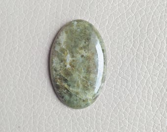 40x26x6 Size Natural Vesuvianite Stone 63 Carat Oval Shape Gemstone, Loose Healing Crystals Cabochon Gemstone, Pendants Vesuvianite Gemstone