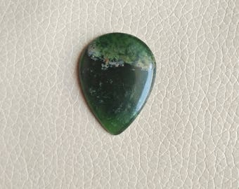 Beautiful Natural Serpentine 01 Piece Gemstone Cabochon, Serpentine Stone, Serpentine Weight 36 Carat and Size 37x28x8 MM Approx.