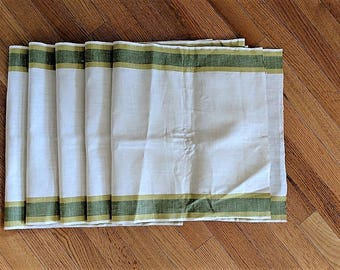 """Pure Linen Toweling Pieces Unhemmed Tough Fabric for Excellent Drying of Precious Crystal Durable Softer With Age 5 Pieces 31"""" Long 16"""" Wide"""