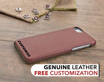 iPhone 8 Leather Case, iPhone 8 Case, iPhone 8 Cover, Genuine Leather iPhone 8 Case, iPhone 8 Sleeve, iPhone Case, Customized Case, Rose
